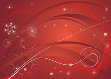 De rode abstractie van Kerstmis Stock Afbeelding