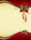 De rode achtergrond van ANG gouden Kerstmis Royalty-vrije Stock Fotografie