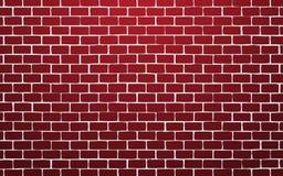 De rode achtergrond van de bakstenen muur vectorillustratie royalty-vrije illustratie
