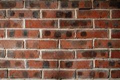 De rode achtergrond van de bakstenen muurtextuur Stock Afbeelding