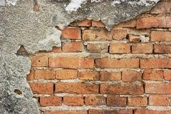 De rode bakstenen muur van Grunge Royalty-vrije Stock Foto
