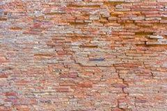De rode achtergrond van de bakstenen muurtextuur grunge, rode bakstenen muurbackgro Royalty-vrije Stock Afbeelding