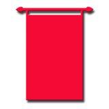 De rode Achtergrond van de Banner Stock Afbeeldingen