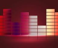De rode Achtergrond van de Equalisermuziek Stock Foto's