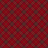 De rode achtergrond van de geruit Schots wollen stofcontrole. Stock Afbeeldingen
