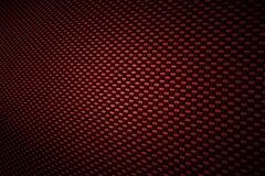 De rode achtergrond van de koolstofvezel Royalty-vrije Stock Foto
