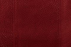De rode achtergrond van de leertextuur Royalty-vrije Stock Foto's