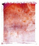 De Rode Achtergrond van de polaroid- Overdracht Royalty-vrije Stock Afbeelding
