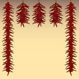 De rode achtergrond van de Spaanse peperpeper stock illustratie