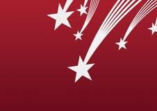 De rode achtergrond van de ster Royalty-vrije Stock Foto's