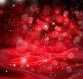 De rode Achtergrond van de Sterren van Kerstmis Stock Fotografie
