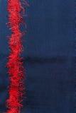 Rode streep Thaise zijde, de gemaakte hand van Thailand - Royalty-vrije Stock Afbeelding