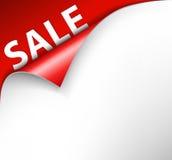 De rode achtergrond van de verkoophoek vector illustratie
