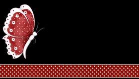 De rode Achtergrond van de Vlinder Stock Afbeeldingen