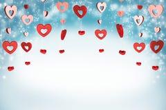 De rode Achtergrond van Harten stock afbeeldingen