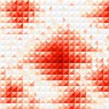 De rode achtergrond van het diamantmozaïek Royalty-vrije Stock Afbeelding