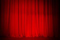 De rode achtergrond van het gordijnstadium Stock Fotografie