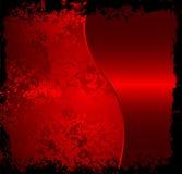 De rode achtergrond van het grungemetaal stock illustratie