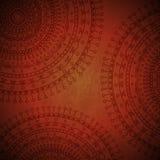 De rode achtergrond van het mandalaornament Stock Afbeeldingen