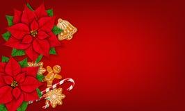 De rode achtergrond van Kerstmis Stock Afbeeldingen
