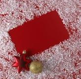 De rode achtergrond van Kerstmis Royalty-vrije Stock Afbeeldingen