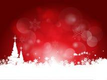 De rode achtergrond van Kerstmis Stock Foto's