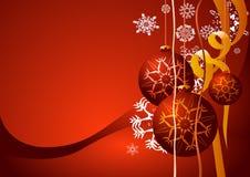 De rode achtergrond van Kerstmis Stock Fotografie