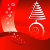 De rode achtergrond van Kerstmis royalty-vrije illustratie