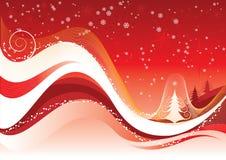 De rode achtergrond van Kerstmis Royalty-vrije Stock Foto's