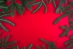 De rode achtergrond van Kerstmis Royalty-vrije Stock Fotografie