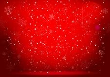 De rode achtergrond van Kerstmis Vector eps10 Stock Afbeeldingen