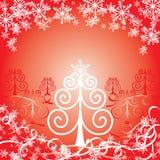 De rode achtergrond van Kerstmis, vectorillustratie stock illustratie