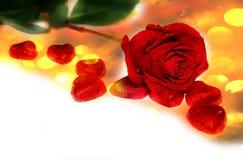 De rode Achtergrond van Rose Valentine ` s Stock Afbeelding