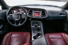 De rode Amerikaanse Auto van de Spier royalty-vrije stock afbeeldingen