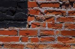 De rode Amerikaanse Vlag van de Bakstenen muur Stock Fotografie