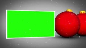 De rode animatie van Kerstmisballen royalty-vrije illustratie