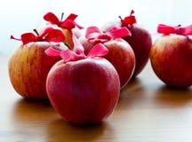 De rode appelen van Kerstmis Royalty-vrije Stock Afbeeldingen