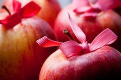 De rode appelen van Kerstmis Stock Afbeelding