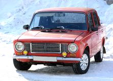 De rode auto Royalty-vrije Stock Afbeelding