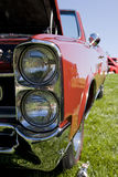 De rode Auto van de Spier stock fotografie