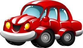 De rode auto van het beeldverhaal royalty-vrije illustratie