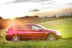 De rode auto van Nice Royalty-vrije Stock Foto