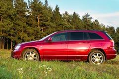 De rode auto van Nice Royalty-vrije Stock Fotografie