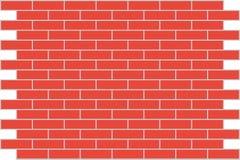 De rode baksteen van de muur. Achtergrond. Stock Afbeeldingen