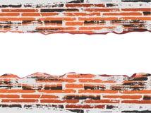 De rode baksteen van Grunge met copyspace Royalty-vrije Stock Afbeeldingen