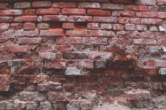 De rode bakstenen muur van Grunge royalty-vrije stock fotografie