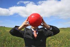 De rode bal stock afbeelding
