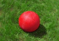 De rode Bal van de Speelplaats Stock Afbeelding
