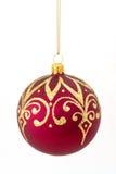 De rode bal van Kerstmis Royalty-vrije Stock Foto's