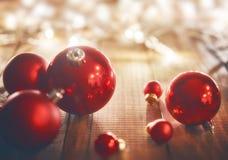De rode bal van Kerstmis Royalty-vrije Stock Foto